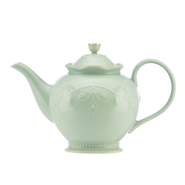 Lenox Ice Blue French Perle Teapot