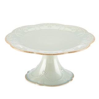 Lenox Ice Blue French Perle Pedestal Cake Plate