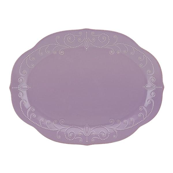 Lenox Violet French Perle Oval Platter