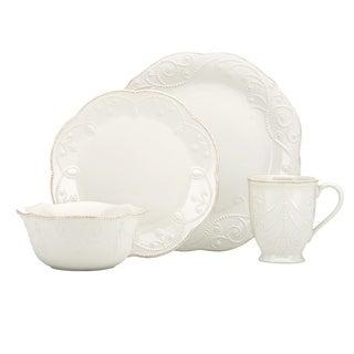 Lenox White French Perle 4-piece Dinnerware Set