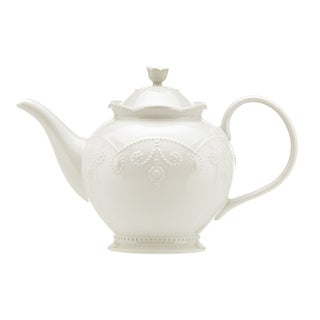 Lenox 'French Perle' White Teapot