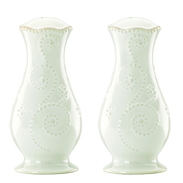 Lenox 'French Perle' Tall White Salt and Pepper Shakers