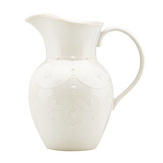 Lenox 'French Perle' White Beaded Pitcher