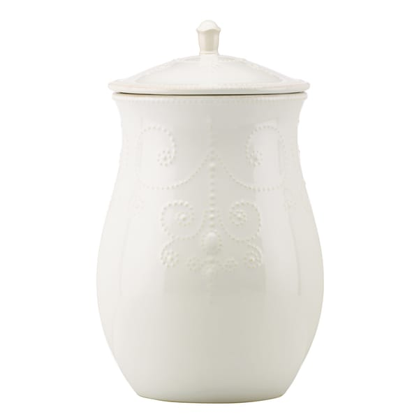 Lenox French Perle White Cookie Jar Free Shipping Today 8985023