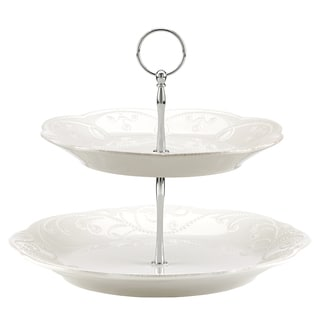 Lenox 'French Perle' White Tiered Server