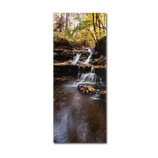 Kurt Shaffer 'Autumn Falls' Canvas Art