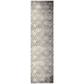 kathy ireland Santa Barbara Style Royal Shimmer Grey Shag Area Rug (2'2 x 8') by Nourison