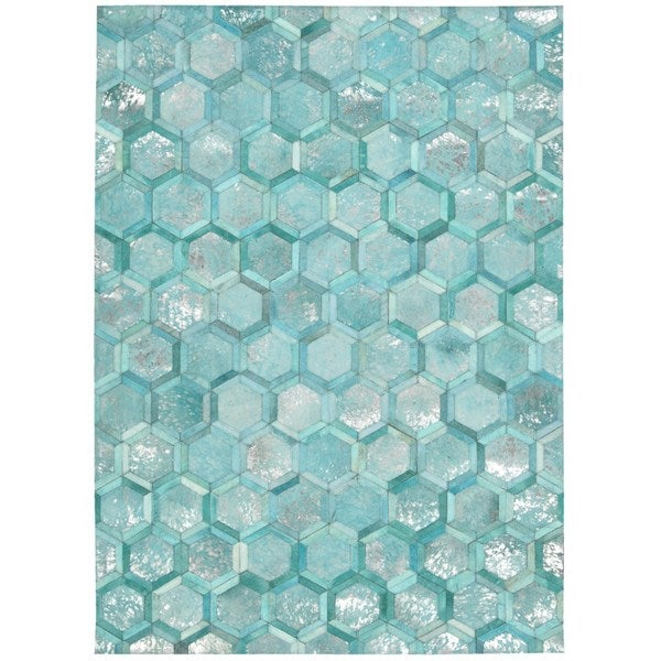 Michael Amini City Chic Turquoise Area Rug by Nourison - 5'3 x 7'5