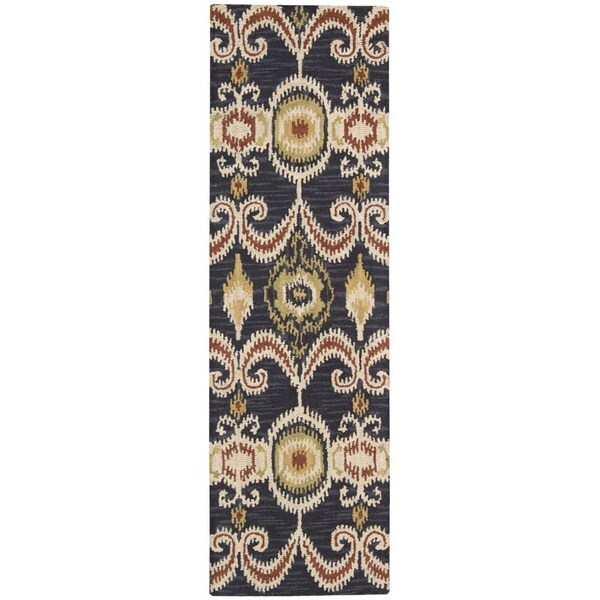 Nourison Siam Hand-tufted Indigo Rug (2'3 x 7'6)