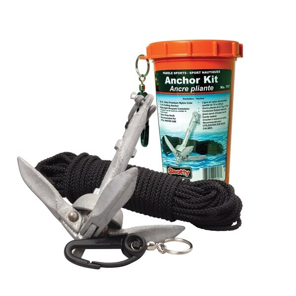Scotty 797 Anchor Kit with 1.5-pound Anchor, Line in Watertight Jar