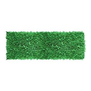 Hand-woven Jersey Shaggy Green Cotton Runner Rug (2' x 6') - 2' x 6'