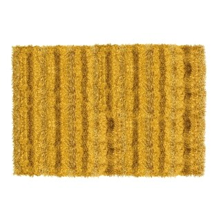 Hand-woven Sea Breeze Beige Shag Rug (5' x 8') - 5' x 8'