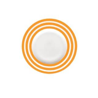Red Vanilla Freshness Mix & Match Lines Orange 9-inch Salad Plate (Set of 6)