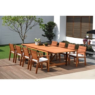 Amazonia Megan 9-piece Dining Wood Set