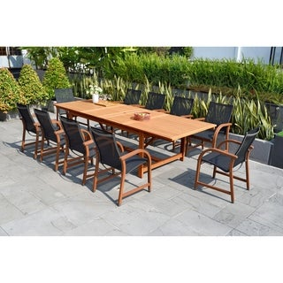 Link to Amazonia Allyson 11-piece Eucalyptus Wood Dining Set Similar Items in Patio Furniture