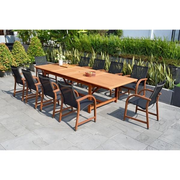 Amazonia Allyson 11-piece Eucalyptus Wood Dining Set. Opens flyout.