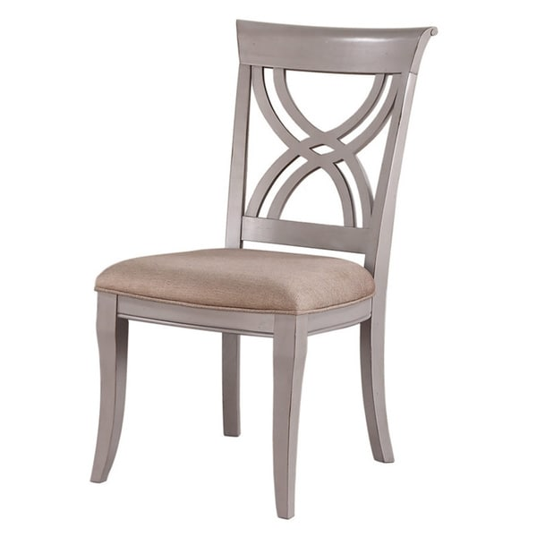 Emerald Home Dove Grey Upholstered Seat Dining Chair Set Of 2