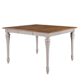 Grey/ Brown Square Gathering Table