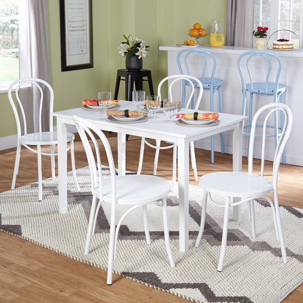 Simple Living Black And White Dining Set 3 Piece: Shop Simple Living Vintage Occasion White 5-piece Dining