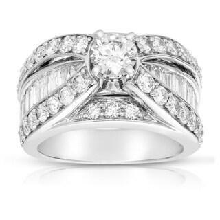 Eloquence 14k White Gold 2 1/6ct TDW Diamond Engagement Ring (G-H, I1-I2)