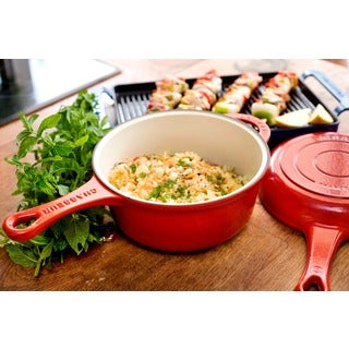 Chasseur 3-quart French Red Cast Iron Combi-Cook Sauce Pan