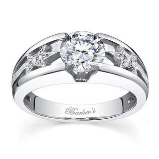 14k White Gold Barkev's Designer 1 1/10ct TDW White Diamond Engagement Ring
