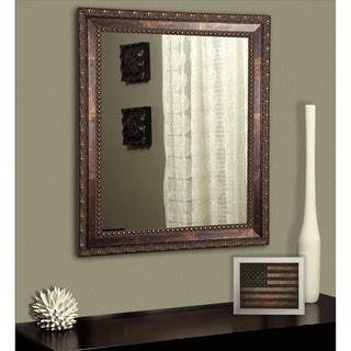 American Made Rayne Traditional Roman Copper Bronze Wall/ Vanity Mirror