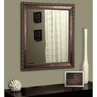 American Made Rayne Traditional Roman Copper Bronze Wall/ Vanity Mirror - bronze