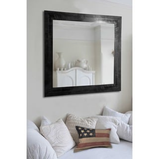American Made Rayne Black and Grey Grain Wall/ Vanity Mirror