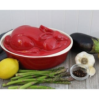 Chasseur 2.1-quart Red 'Rabbit' French Enameled Cast Iron Terrine