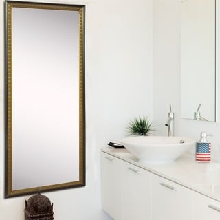 American Made Rayne Cameo Bronze 28.5 x 63.5-inch Tall Vanity Wall Mirror