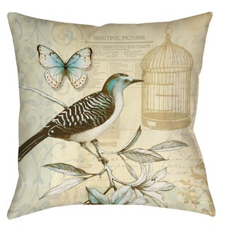 Freedom Birdcage 19-inch Decorative Pillow