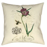 Manual Woodworkers Naturalist's Montage 19-inch Decorative Pillow