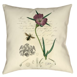 Naturalist's Montage 19-inch Decorative Pillow