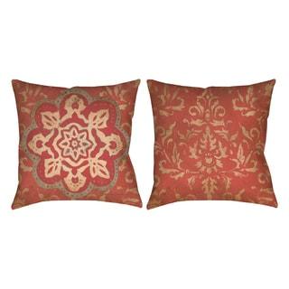 Golden Medallion 19-inch Decorative Pillow