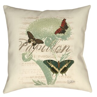 Manual Woodworkers Papillon Melange Butterfly Trio 19-inch Throw Pillow