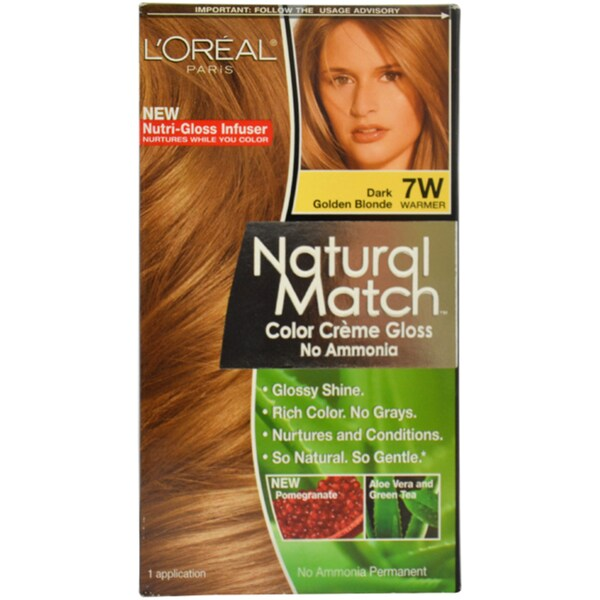 Shop L Oreal Paris Natural Match 7w Dark Golden Blonde Hair Color