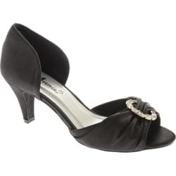 Women's Annie Chicago Black Satin
