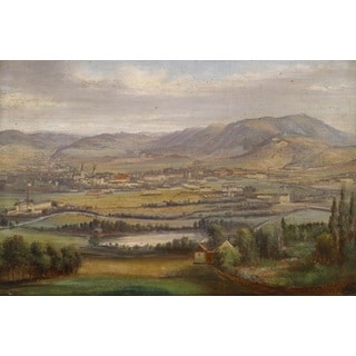 Industrial landscape in Austria' Oil on Canvas Art