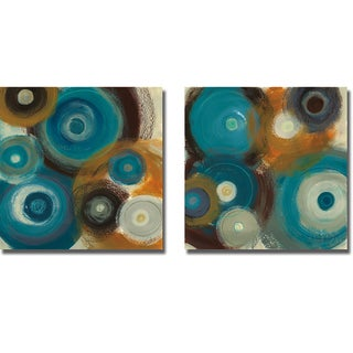 Jeni Lee 'Around the World I and II' 2-piece Canvas Art Set