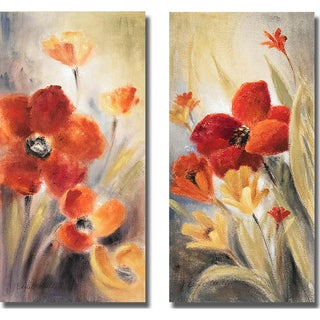 Lanie Loreth 'Secret Garden I and II' 2-piece Canvas Set