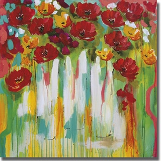 Amanda Brooks 'Poppies Glowing' Canvas Art