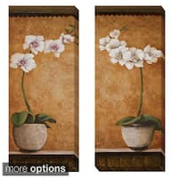 Susan Osborne 'Hanna's Orchids I and II' 2-piece Canvas Set