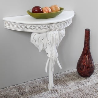 International Caravan Windsor Collection Carved Hardwood Exotic Elephant Wall Table