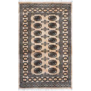 Handmade One-of-a-Kind Bokhara Wool Rug (Pakistan) - 3'2 x 5'