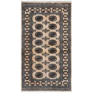 Handmade One-of-a-Kind Bokhara Wool Rug (Pakistan) - 3' x 5'4