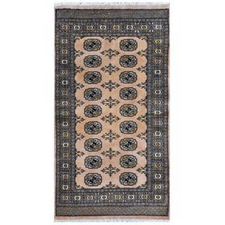Herat Oriental Pakistani Hand-knotted Bokhara Wool Rug (3' x 5'7)