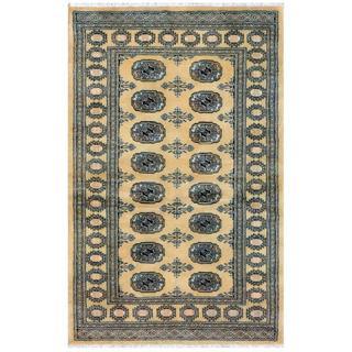 Herat Oriental Pakistani Hand-knotted Bokhara Wool Rug (3'3 x 4'11)