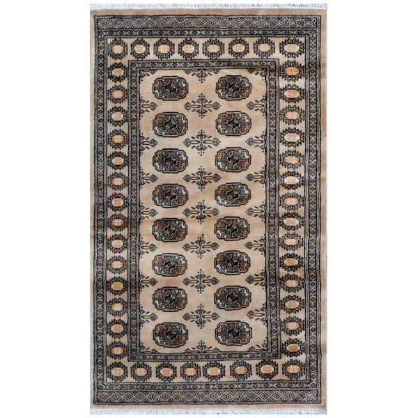 Handmade One-of-a-Kind Bokhara Wool Rug (Pakistan) - 3'2 x 5'3