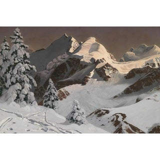 Winter Mountain' Oil on Canvas Art